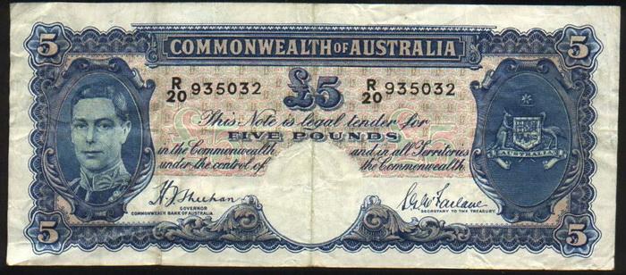 Лицевая сторона банкноты австралии