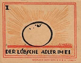Обратная сторона банкноты Германии номиналом 20 Пфеннигов