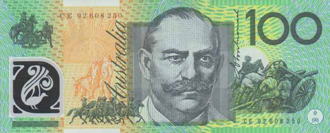 Обратная сторона банкноты австралии