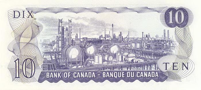 Обратная сторона банкноты канады
