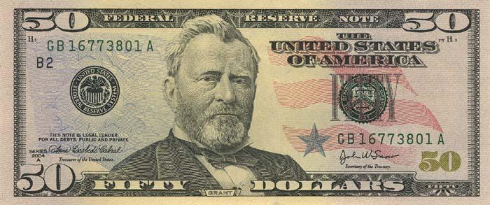 Банкноты сша номиналом 50 долларов