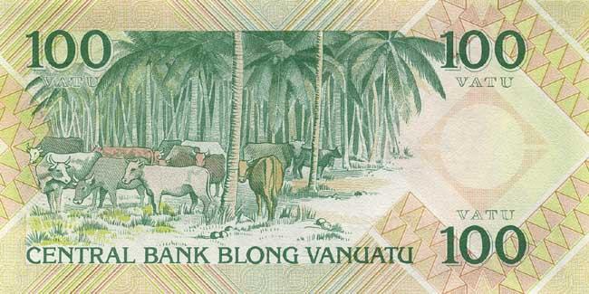 Обратная сторона банкноты вануату