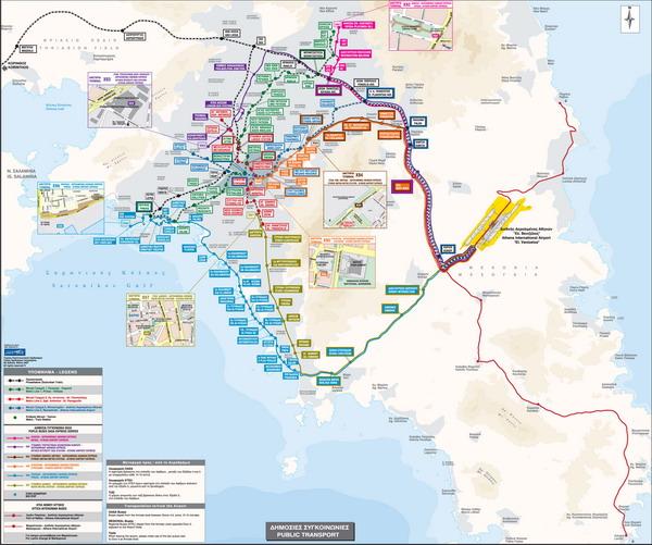 Схема проезда к аэропорту Афин