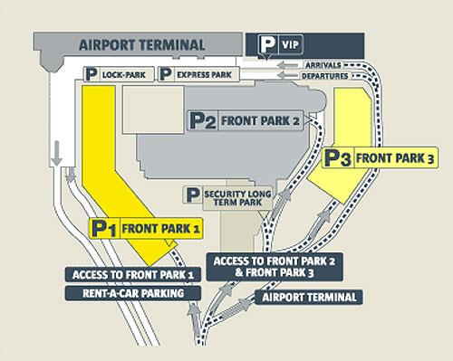 Схема аэропорта Брюссели