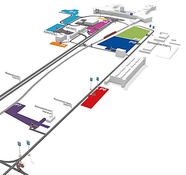 Карта парковок аэропорта