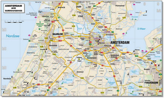Карта окрестностей Амстердама