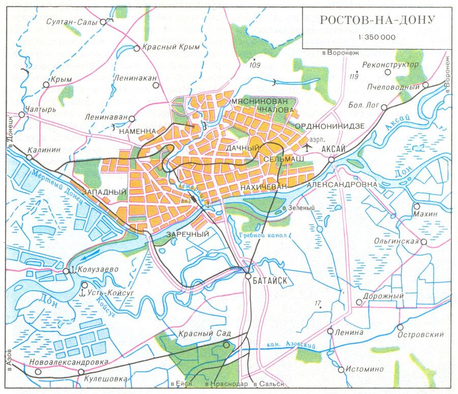 Карта Ростова-на-Дону.