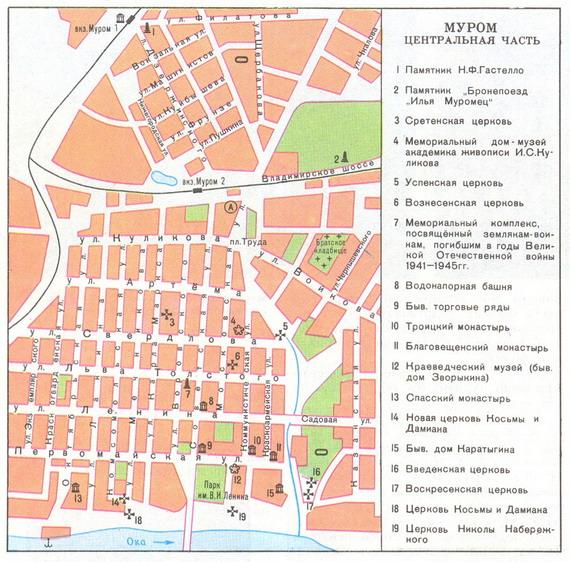 Карта Мурома