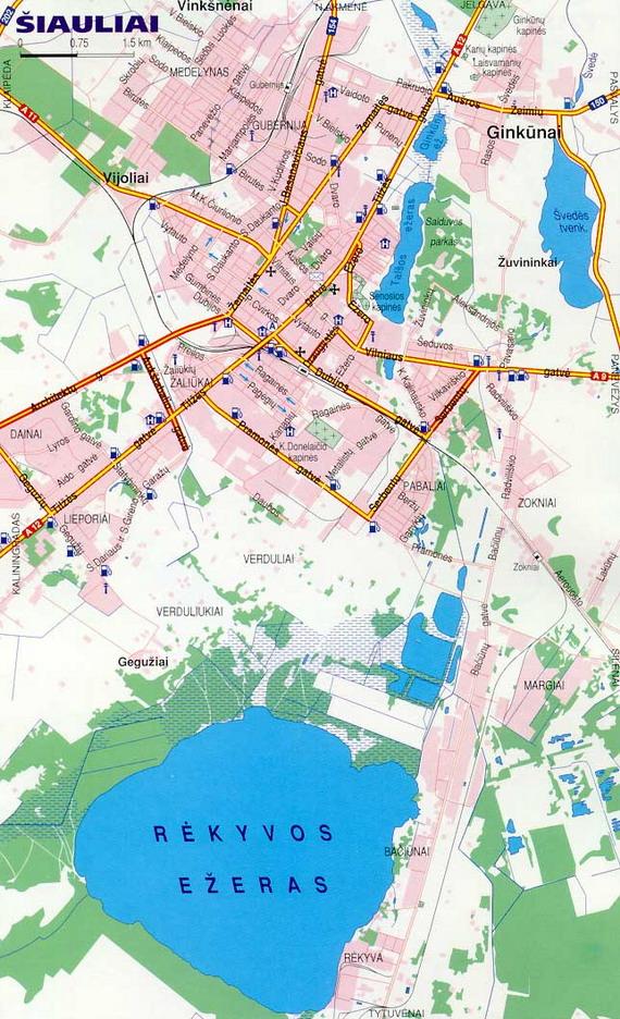 Карта Шауляй