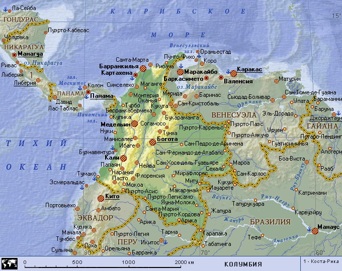Колумбия где он находиться