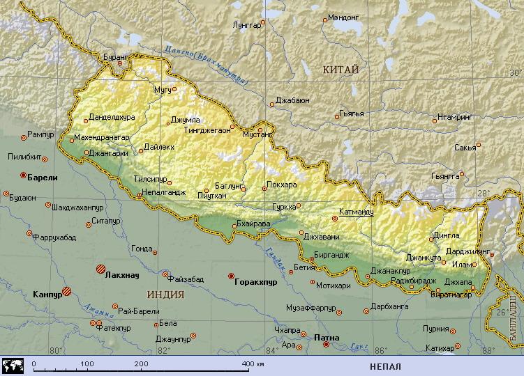 Страна где находится непал
