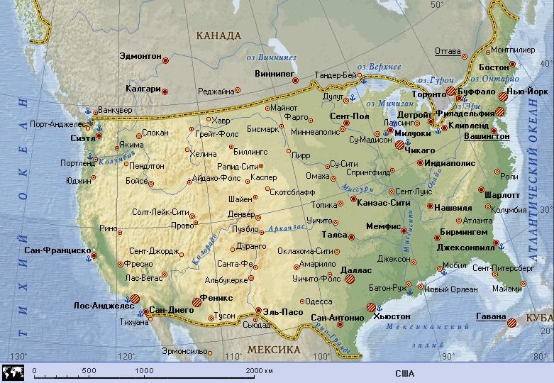 Карта сша сша united states северная америка