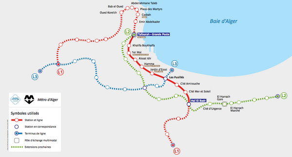 Схема метро Алжира