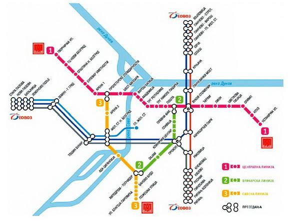 Схема метро Белграда