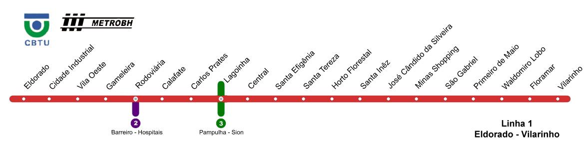 Подробная схема метро Белу-