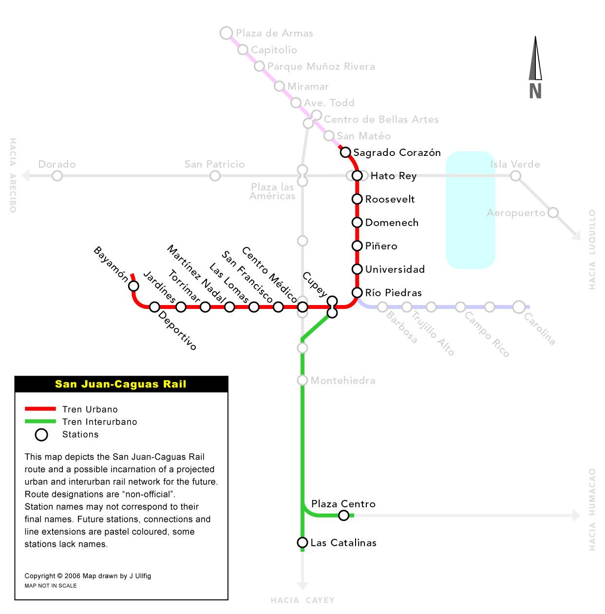 Схемы метро Пуэрто-Рико.