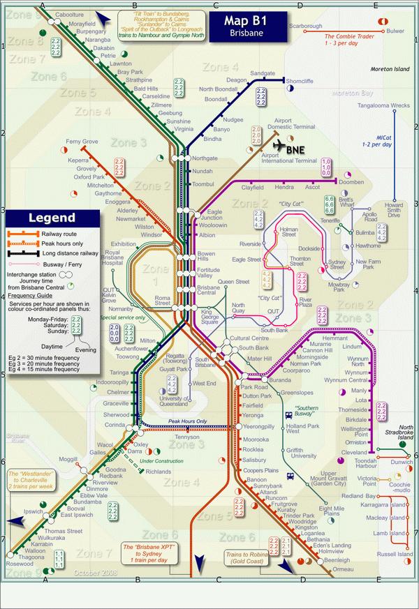 Схема метро Брисбен