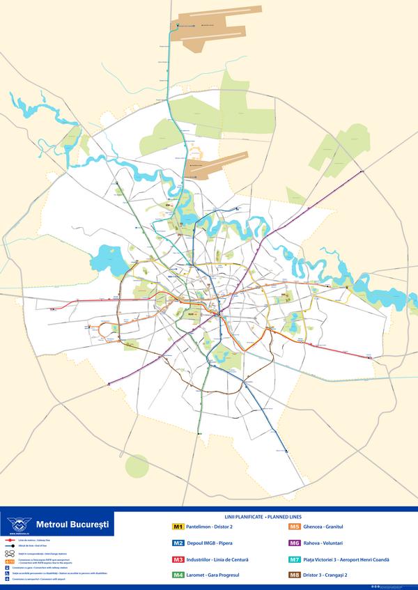 Схема метро Бухареста