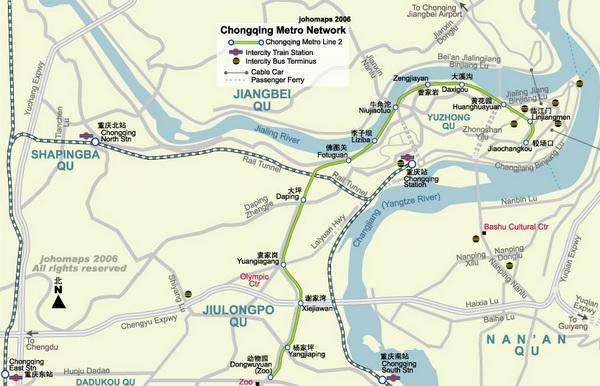 Схема метро Чунцина