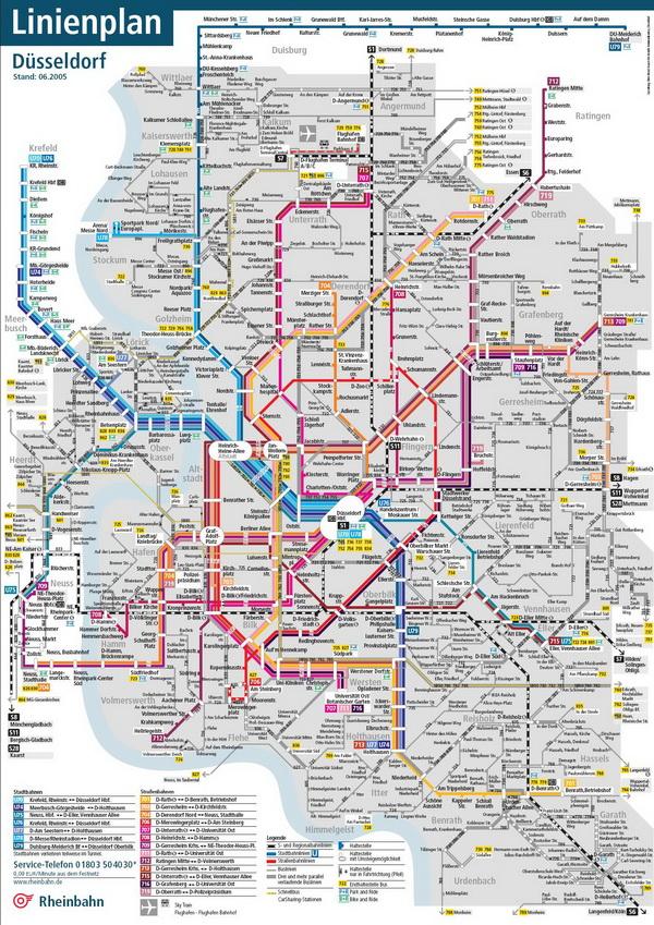 Схема метро Дюссельдорфа