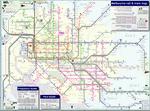 Схема метро Мельбурна.