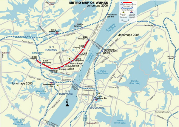 Схема метро Ухани