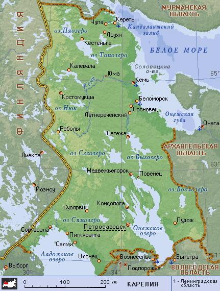 карта карелии скачать бесплатно - фото 2