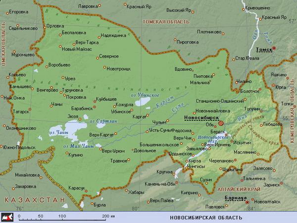 Новосибирское водохранилище образовалось при разливе реки Обь у плотины Новосибирской ГЭС.  Его площадь - 1070...