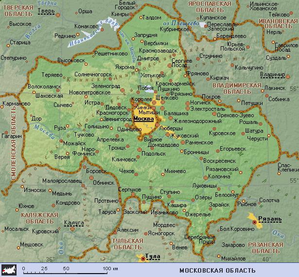 карта московской области скачать бесплатно - фото 4