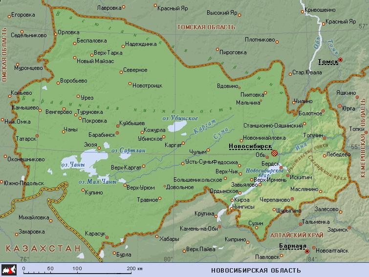 новосибирской области скачать карту