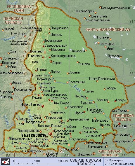 Карта схема свердловской области 403