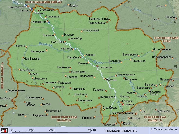 Карта Томского Района Подробная