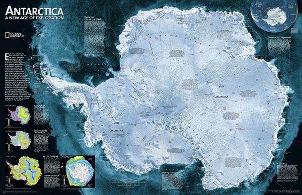 Спутниковая карта антарктиды