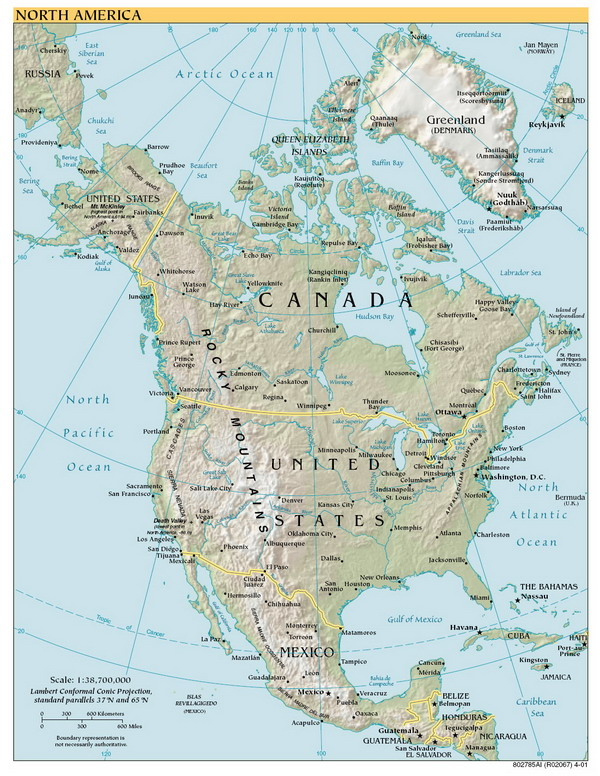 Географическая карта северной