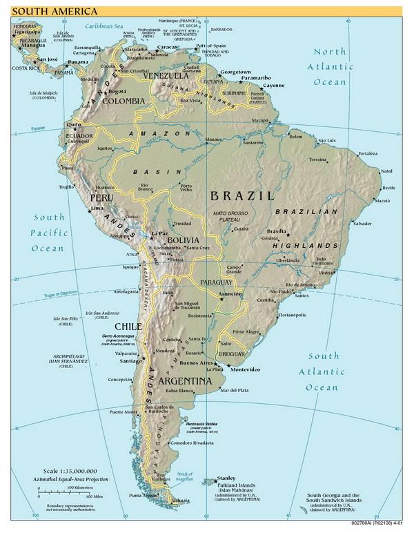 Географическая карта Южной Америки — Planetolog.ru: http://planetolog.ru/map-continent-zoom.php?id=SAM&scheme=3